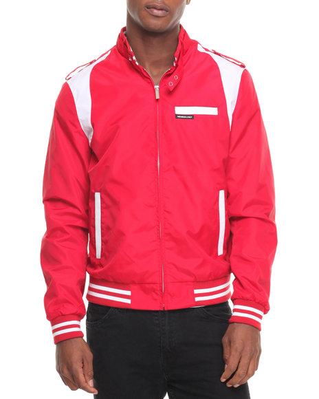 Members Only Men Iconic Racer Team Jacket Red Large