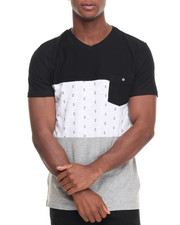 Buyers Picks - Castaway Colorblock V-Neck Tee - Grey