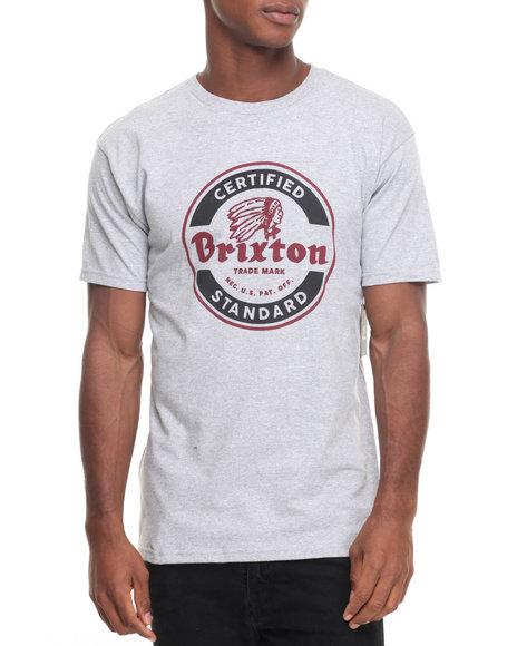 Brixton Men Soto Standard Tee Grey Large