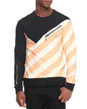 Sweatshirts & Sweaters - 45 Degree Striped L/S Crewneck Sweatshirt