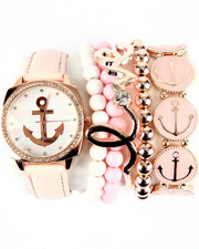 DRJ Accessories Shoppe - Anchor Stripe Dial Ceramic Stackable Watch Set
