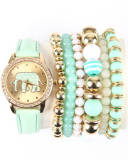 DRJ Accessories Shoppe - Elephant Love Ceramic Stackable Watch Set