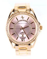 Jewelry - Pink Dial Metal Band Watch
