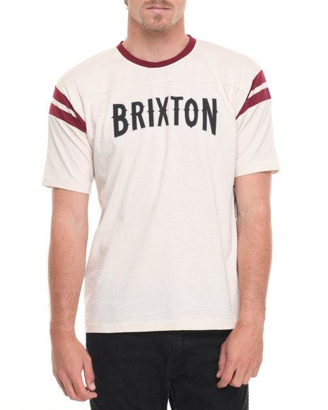 Brixton Men Benson S/S Knit Tee Off White Large
