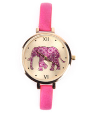 DRJ Accessories Shoppe - Elephant Dial Thin Strap Watch