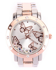 DRJ Accessories Shoppe - 2-Tone Butterfly Dial Watch