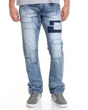 Men - Patchwork Denim Jeans