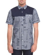 Parish - S/S Printed Chambray Button-Down