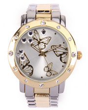 Jewelry - Bling Accents Butterfly Dial Metal Watch