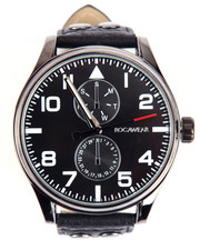 Rocawear - Studded Leather Band Watch