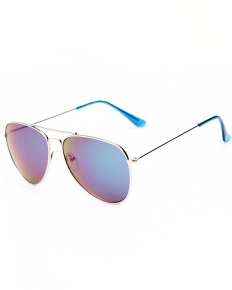 Drj Sunglasses Shoppe Women Silver Sky Revo Aviator Sunglasses Blue 1SZ