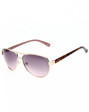 DRJ Sunglasses Shoppe - Tort Pink Princess Aviator Sunglasses