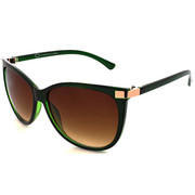 Accessories - Mode Oval Laser Croco Temple Sunglasses