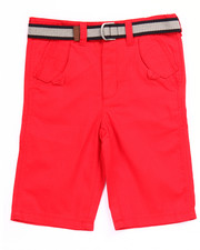 Bottoms - BELTED HERRINGBONE SHORTS (8-20)