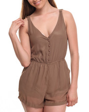 Jumpsuits - Button Down Chiffon Romper