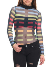 Fashion Lab - Powermesh Sublimated Stripes Bodysuit