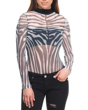 Women - Powermesh Sublimated Zebra Bodysuit
