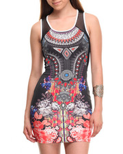 Women - Body Con Sublimation Print Dress