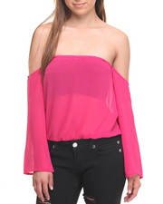 Tops - Cold Shoulder Georgette Top