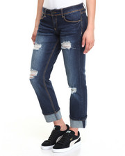 Jeans - Heavy Stitch Destructed Cropped Skinny Jean