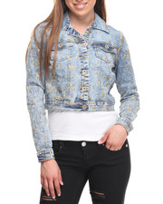 Fashion Lab - Denim Jacket w/Splattr