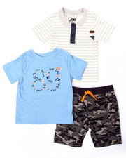 Boys - 3 PC SET - POLO, TEE, & CAMO CARGO SHORTS (2T-4T)
