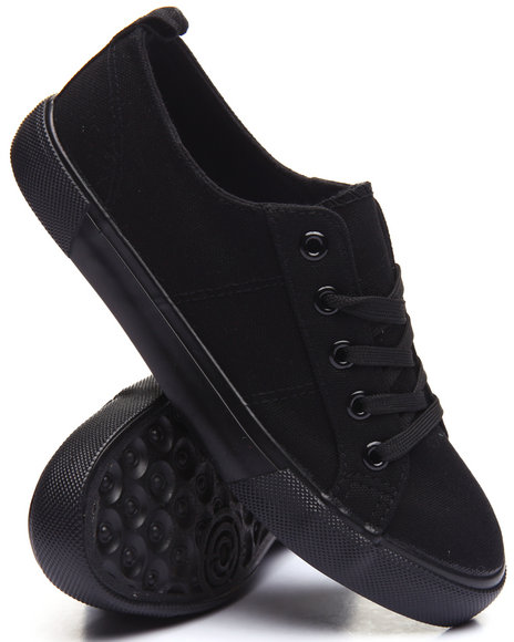Fashion Lab Women LaceUp Casual Sneaker Black 7