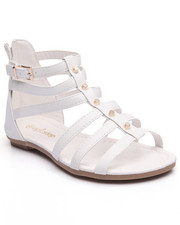 Sandals - Grommet Trim Gladiator Sandal