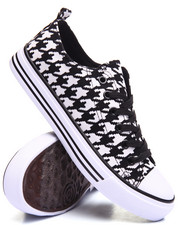 Footwear - Houndstooth Canvas Lace-Up Sneaker