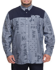 Big & Tall - L/S Printed Button-Down (B&T)