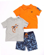 Sizes 2T-4T - Toddler - 3 PC SET - POLO, TEE, & CAMO CARGO SHORTS (2T-4T)