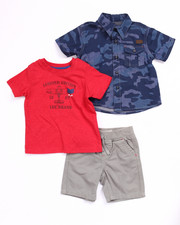 Sets - 3 PC SET - CAMO WOVEN, TEE, & TWILL SHORTS (INFANT)