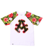 Tops - TROPICAL RAGLAN TEE (8-20)