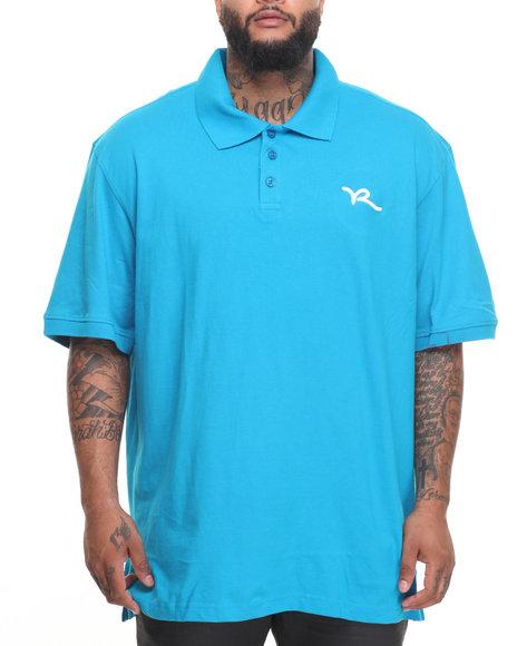 Rocawear Men Classic Script S/S Polo (B&T) Blue 6XLB