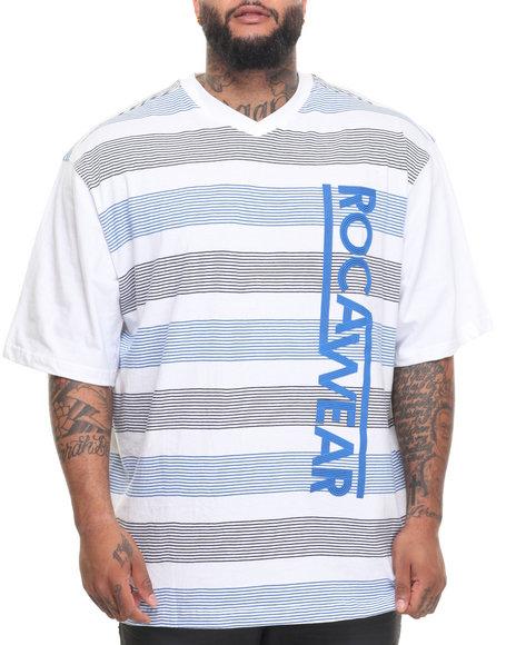 Rocawear Men Fast Lane S/S Knit Tee (B&T) White 5XLB
