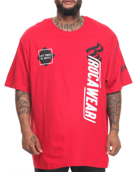 Rocawear Men Outside The Box S/S Tee (B&T) Red 4XLB