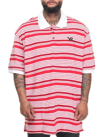 Rocawear Men Broker S/S Polo (B&T) Red 3XLB
