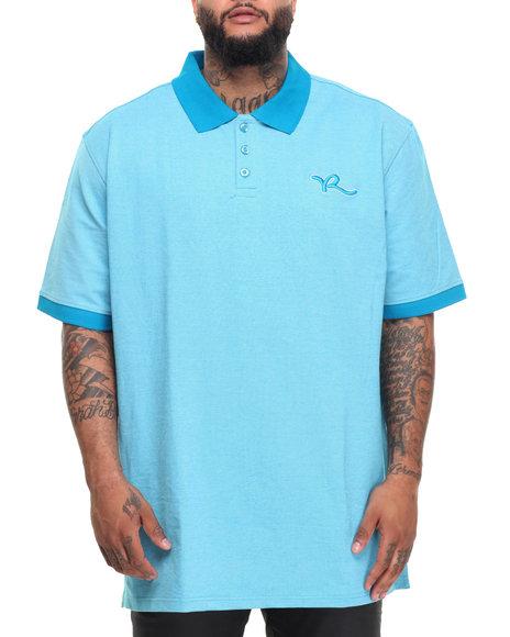 Rocawear Men Shadow Twill S/S Polo (B&T) Blue 4XLB