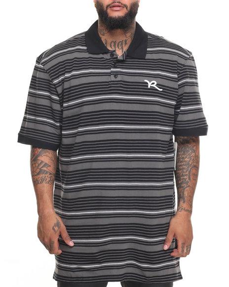 Rocawear Men Broker S/S Polo (B&T) Black 3XLB