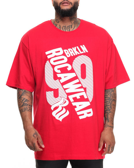 Rocawear Men City Streets S/S Tee (B&T) Red 4XLB