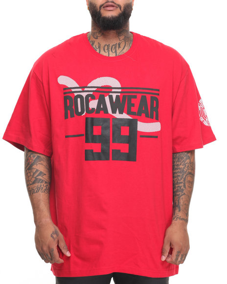 Rocawear Men Rooftop S/S Tee (B&T) Red 4XLB