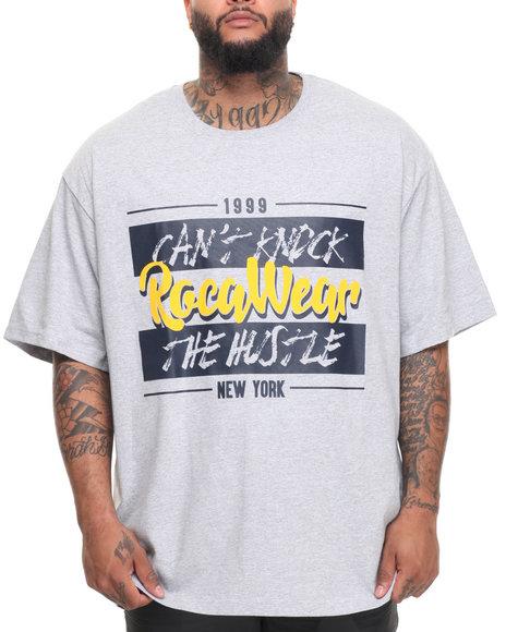 Rocawear Men Gangster Label S/S Tee (B&T) Grey 3XLB