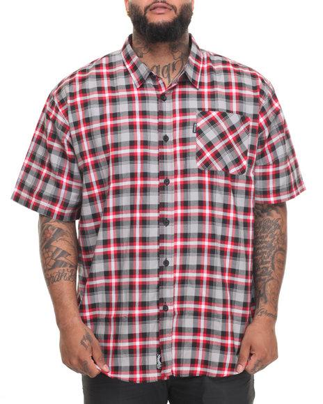 Rocawear Men Pattern 10 S/S Button-Down (B&T) Black 5XLB