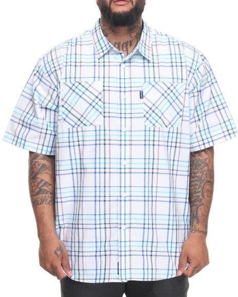 Rocawear Men Pattern 09 S/S Button-Down (B&T) Blue 4XLB