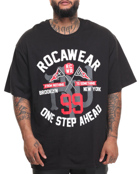 Rocawear Men Pay Tribute Tee Black 6XLB