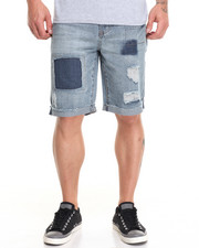 Buyers Picks - Festival Cut off Denim Shorts w Patchwork