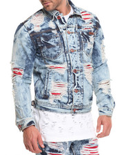 Denim Jackets - Distressed Denim Jacket
