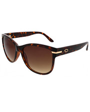 Accessories - Deep Square Metal Accent Sunglasses