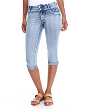Capris - Winner Circle Backpockets Stretch Denim Capri