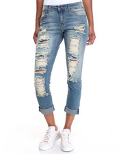 Jeans - Mad Destructed Double Roll Stretch Skinny Jean